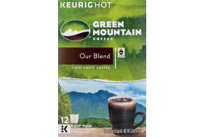 Green Mountain Coffee Light Roast Coffee K-Cup Pods Our Blend - 12 CT