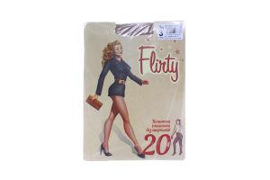Колготки женские элегантные без шортиков Flirty 20den 3 бежевые