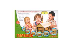 Конструктор Теремок дерево 74деталі Київська фабрика іграшок