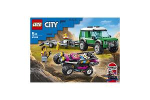 Конструктор для детей от 5лет №60288 Race Buggy Transporter City Lego 1шт
