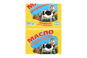 Масло 73% сладкосливочное Крестьянское Дживальдіс м/у 200г