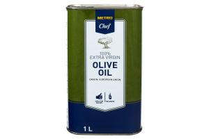 Олія оливкова нерафінована першого віджиму Metro Chef з/б 1л