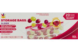 Ahold Storage Bags Slider - 20 CT