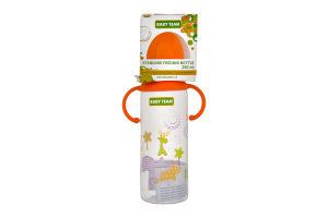 Пляшка з силіконовою соскою для годування дітей від народження Baby Team 250мл 1шт