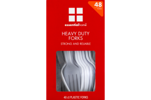 Essential Home Heavy Duty Forks - 48 CT
