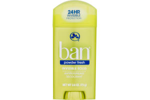 Ban Invisible Solid Antiperspirant Deodorant Powder Fresh