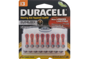 Duracell Hearing Aid Batteries - 16 CT