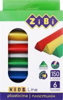 Набір пластиліну 6 кольорів №ZB.6225 Zibi 1шт