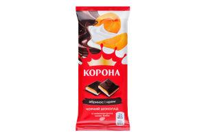 Шоколад чорний Абрикос і крем Корона м/у 85г