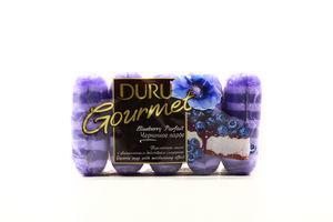 Мыло туалетное Черничное парфе Gourmet Duru 5х75г