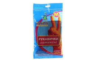 Перчатки для уборки латексные суперпрочные M Добра господарочка 1пара