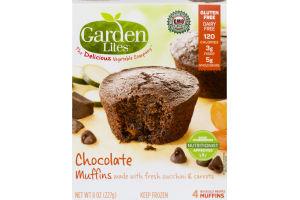 Garden Lites Muffins Chocolate - 4 CT