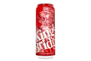 Напиток слабоалкогольный 0.5л 7% Gin&Grapefruit King`s Bridge ж/б