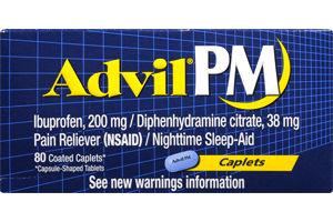 Advil PM Ibuprofen 200 mg Coated Caplets - 80 CT