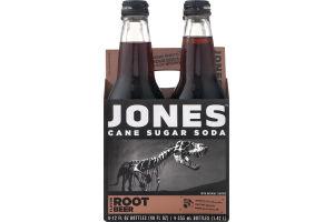 Jones Cane Sugar Soda Root Beer - 4 CT
