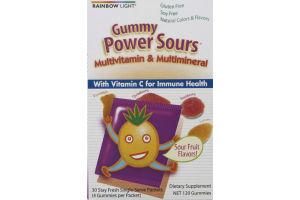 Rainbow Light Gummy Power Sours Multivitamin & Multimineral With Vitamin C Gummies - 120 CT