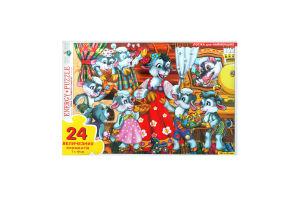 Пазлы для детей от 3-х лет Волк и семеро козлят Київська Фабрика Іграшок 24эл