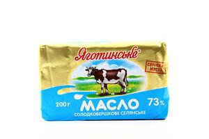 Масло 73% Крестьянское Яготинское 200г