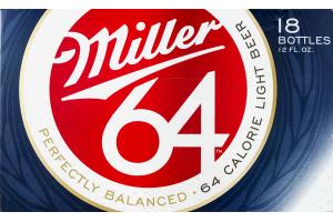 Miller 64 Light Beer - 18 CT