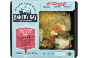Bantry Bay Premium Seafood Tilapia Fillet with Garlic Herbs and Garden Vegetables