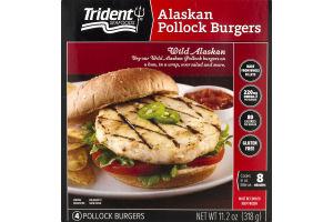 Trident Seafoods Alaskan Pollock Burgers - 4 CT