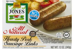 Jones Dairy Farm All Natural Hearty Pork Sausage Links