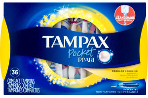 Tampax Pocket Pearl Tampons Regular Unscented - 36 CT