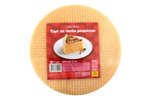 Коржи д/торта Lekorna вафельные 65г