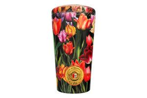 Чай черный и зеленый цейлонский среднелистовой №8754 Ваза с тюльпанами Chelton ж/б 100г