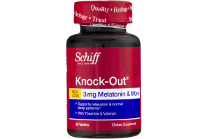 Schiff Knock-Out 3 mg Melatonin & More - 50 CT