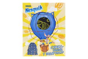 Промо-набір Напій швидкорозчинний з какао Nesquik 380г+Сумка-рюкзак Yongchangda Manufactory 1шт