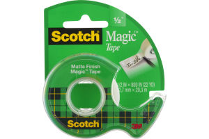 Scotch Magic Tape Matte Finish 1/2""