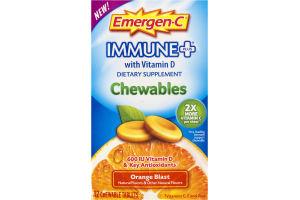 Emergen-C Immune+ Dietary Supplement Chewables Orange Blast - 42 CT
