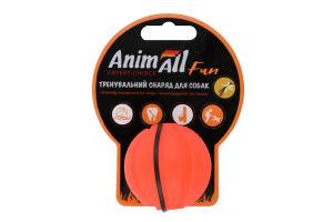 Снаряд тренувальний для собак 5см помаранчевий М'яч Fun AnimAll 1шт