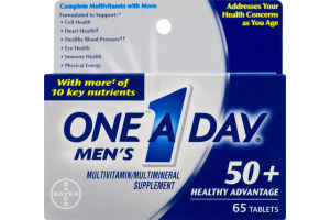 One A Day Men's Multivitamin 50+ Healthy Advantage Tablets - 65 CT