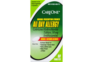 CareOne All Day Allergy Indoor & Outdoor Allergies Tablets - 60 CT
