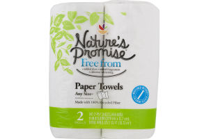 Nature's Promise Any Size Paper Towels - 2 CT