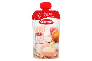 Пюре для детей от 6 месяцев каша мультизлаковая с яблоком и персиком Semper д/п 120г