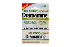 Dramamine Motion Sickness Relief Non-Drowsy Naturals With