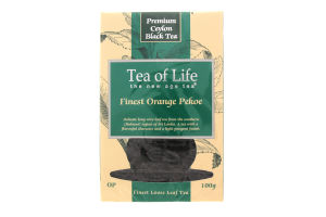 Чай черный Tea of Life Finest OP байхов.крупнолист