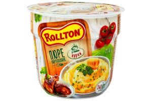 Пюре картофельное быстрого приготовления со вкусом курицы Rollton ст 40г