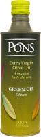 Масло оливковое Pons Green Oil EV