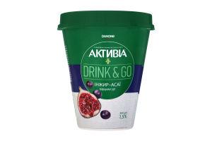 Бифидойогурт 1.5% Инжир-Асаи Drink&Go Активiа п/ст 300г