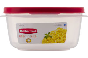 Rubbermaid Easy Find Lids Container 5 Cups