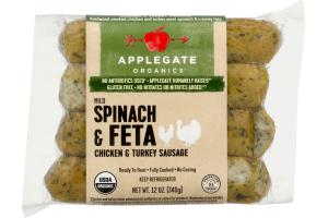 Applegate Organics Spinach & Feta Chicken & Turkey Sausage Mild