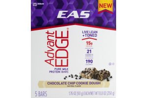EAS Advant Edge Protein Bars Chocolate Chip Cookie Dough - 5 CT