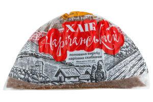Хлеб Київхліб Наричанский нарезанный половина