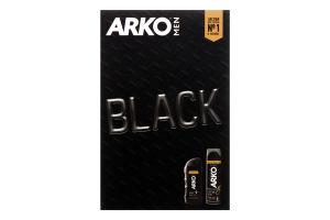 Набор подарочный гель для бритья и умывания 2в1+гель для душа и шампунь 2в1 Black Arko men 1шт