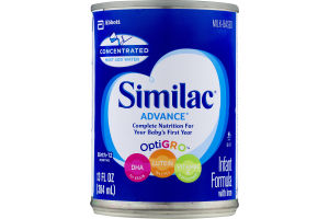 Milk-Based Similac Advance Complete Nutrition for Your Baby's First Year OptiGro Infant Formula with Iron