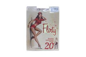 Колготки женские с заниженной талией Flirty 20den 3 бежевые